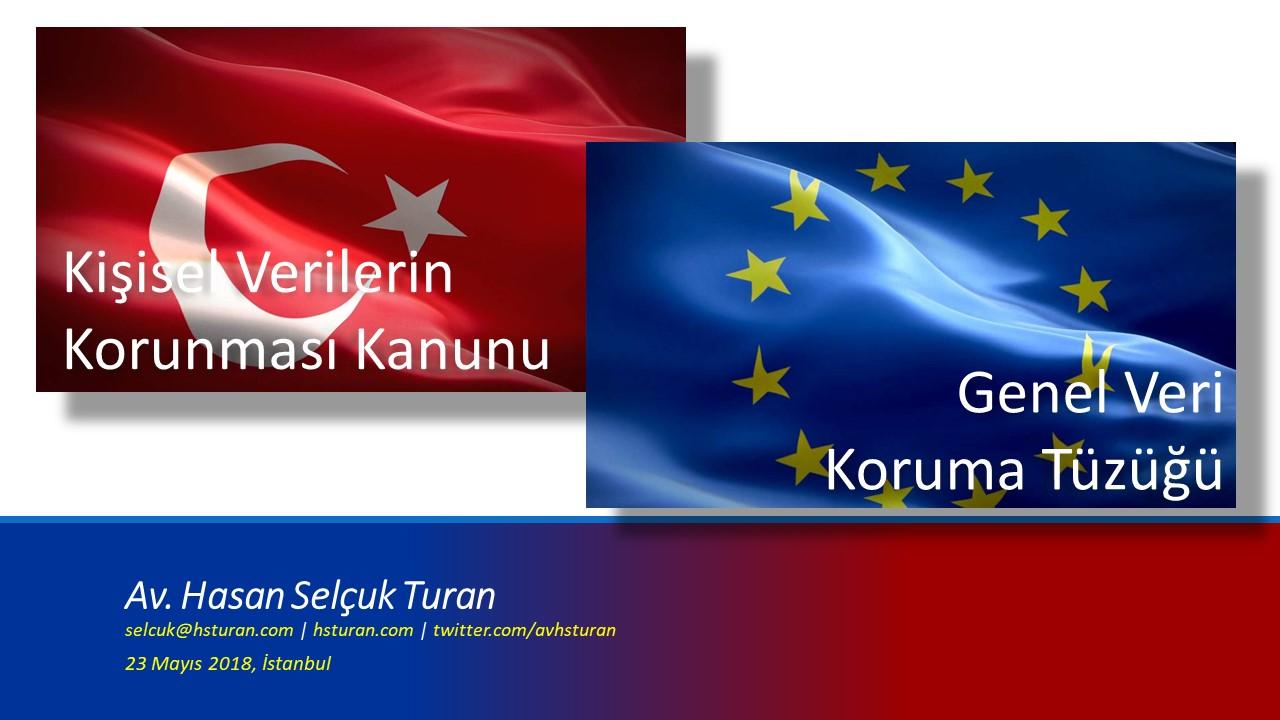 <p>23 mayısta İstanbul Barosu&#8217;ndaki etkinlikte yapılan KVKK-GDPR karşılaştırması sunumu. (Sürenin kısalığı sebebiyle en önemli maddelerin karşılaştırılması)</p>